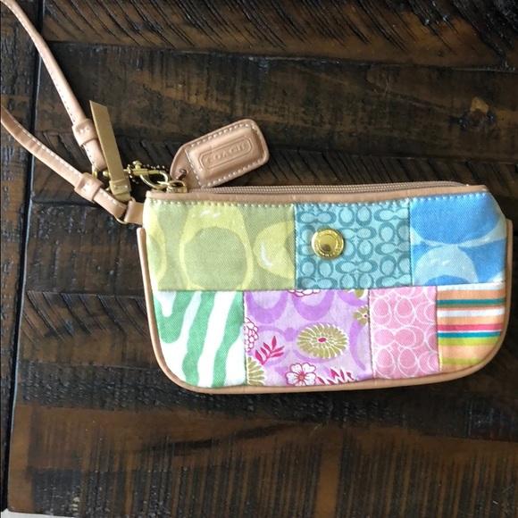 Coach Handbags - vintage coach patchwork wristlet